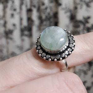 *** $15 Summer Sale *** Rainbow Moonstone Ring. 7